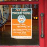 Schild der Savannah Trolley Tour