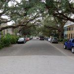 Straßenansicht aus dem Savannah Trolley heraus