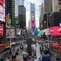 Times Square in New York am Morgen