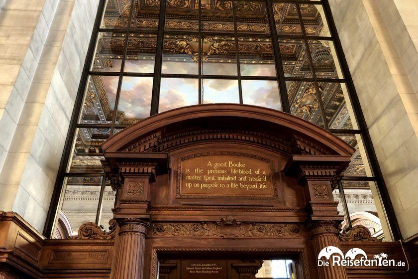 Zugang zum Lesesaal der New York Public Library