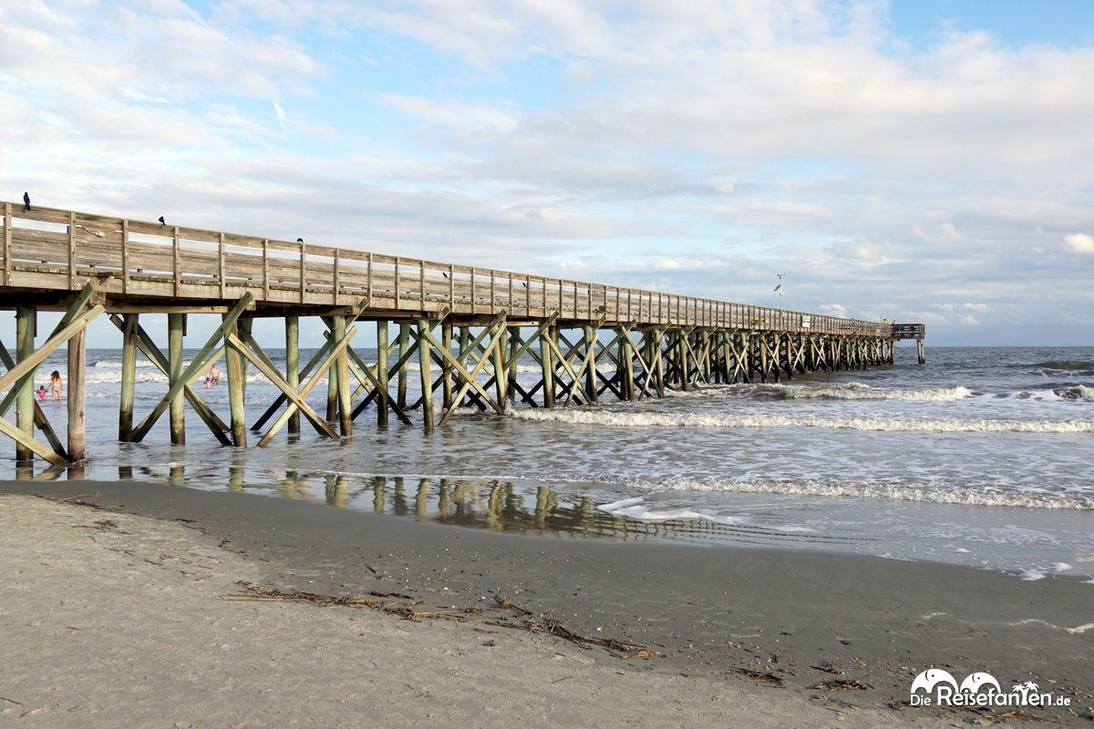 Der lange Pier von Sullivan's Island