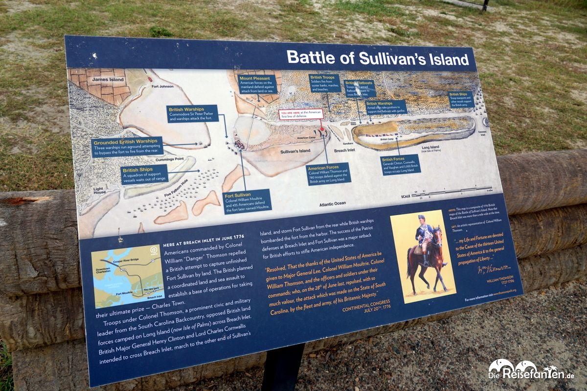 Infotafel auf Sullivan's Island