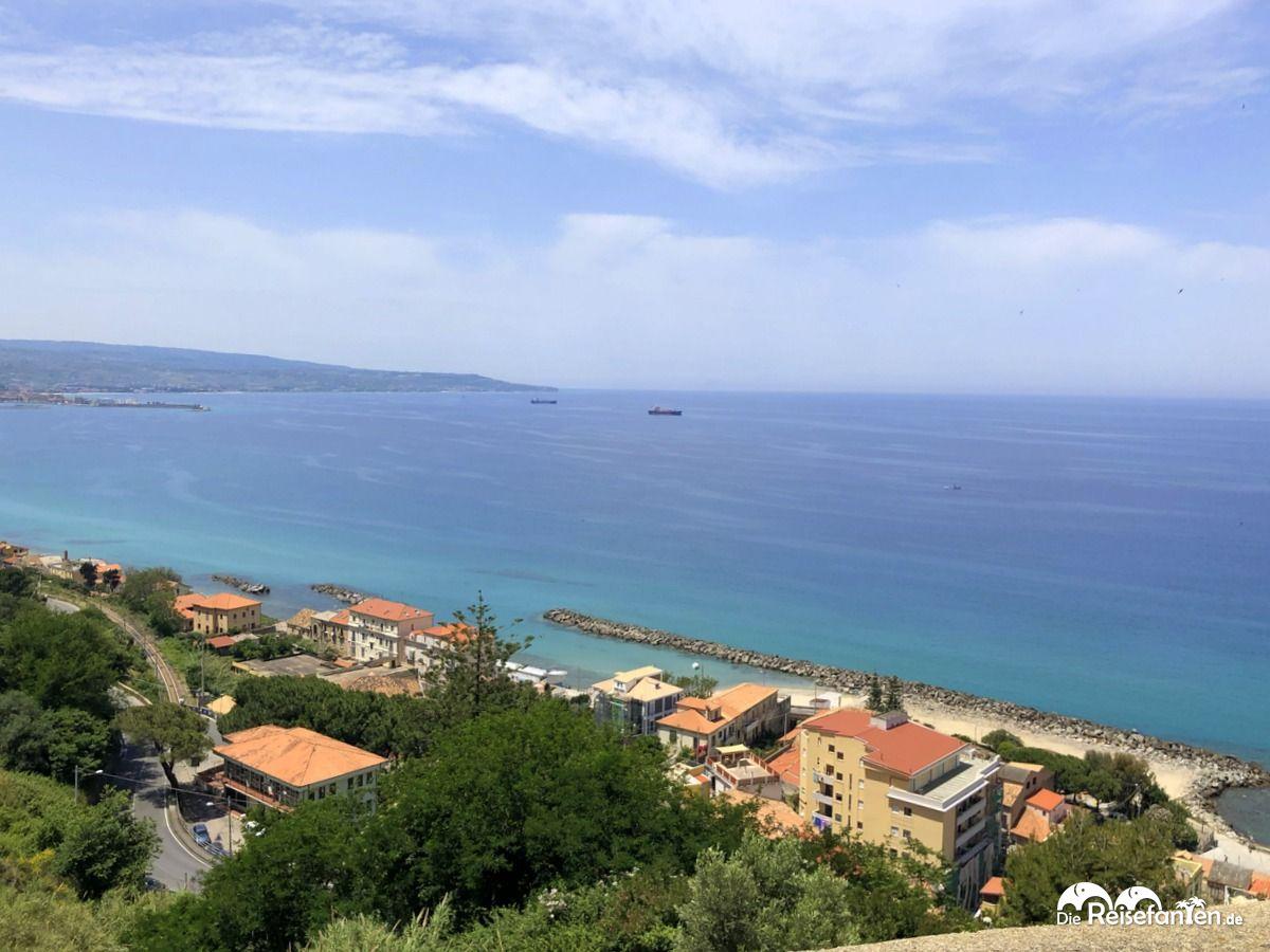Aussicht auf die Küste von Pizzo