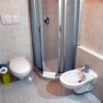 Badezimmer im Hotel Tropis in Tropea