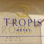 Schild im Hotel Tropis in Tropea
