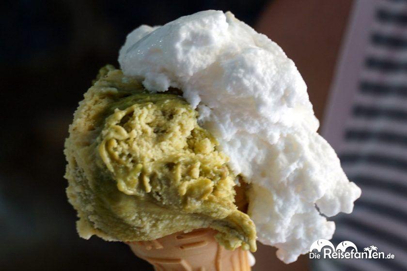 Das Eis aus der Zanzibar in Scilla in Italien