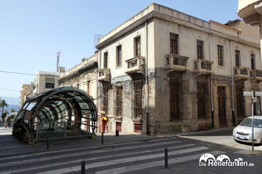 Die Rolltreppen von Reggio Calabria fangen hoch oben in der Altstadt an