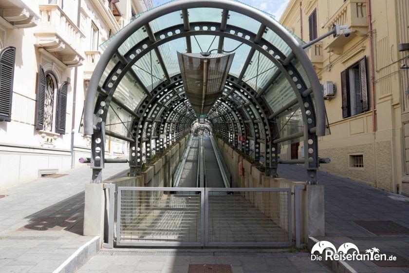 Die Rolltreppen von Reggio Calabria sind verschlossen