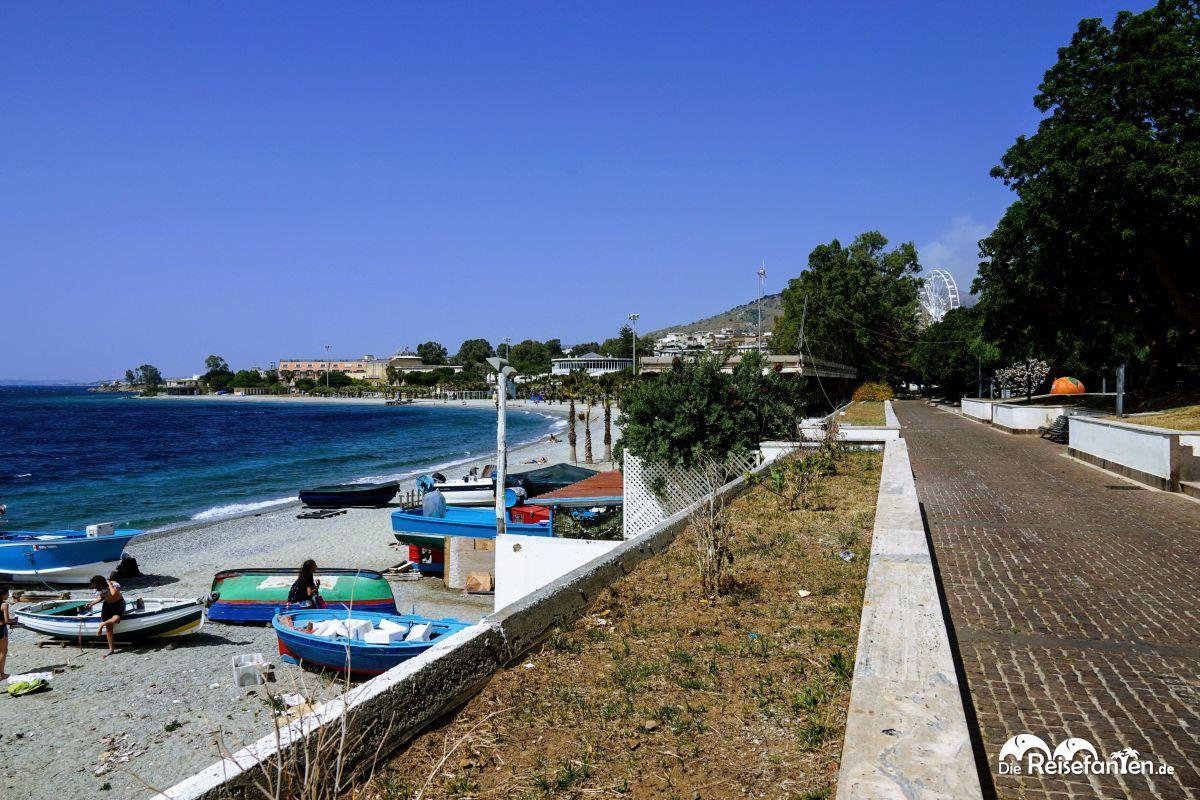Die Strandpromenade von Reggio Calabria