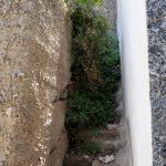 Eine alte Treppe im italienischen Scilla