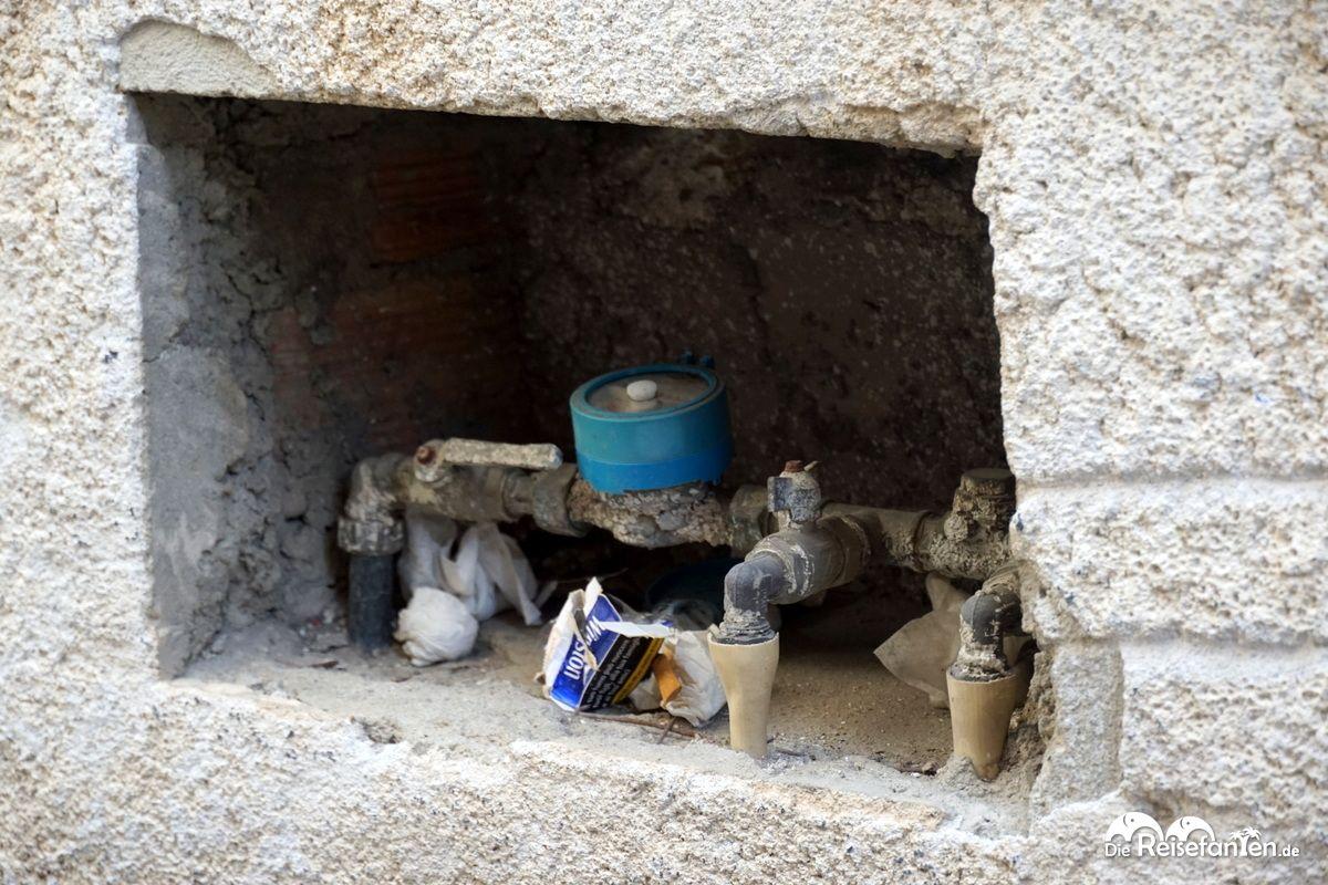 Wasseranschluss im italienischen Scilla