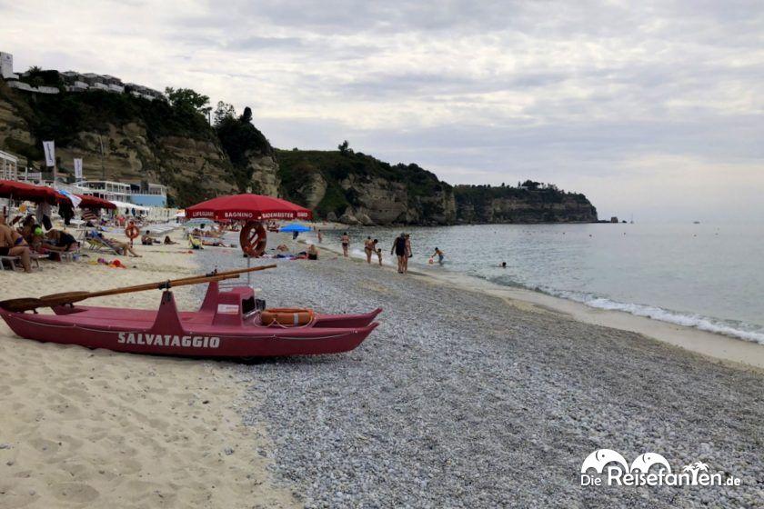 Strand am Lido Aretusa in Tropea