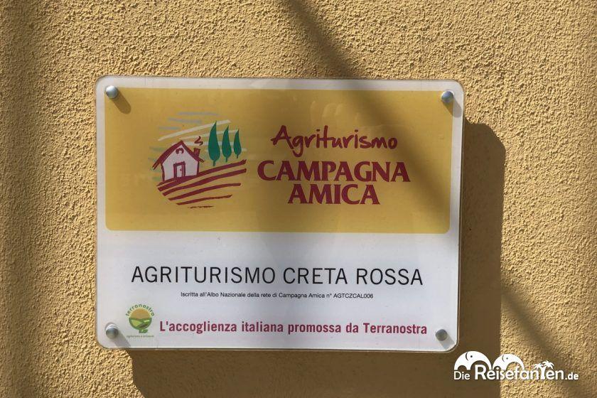Das Agriturismo Creta Rossa ist ein eingetragenes Agriturismo