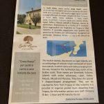 Infoblatt im Agriturismo Creta Rossa