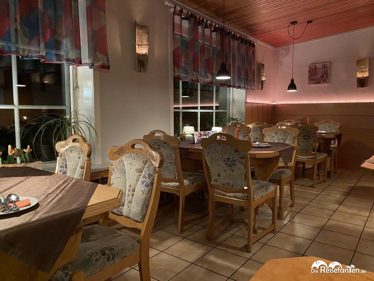 Innenansicht des Restaurants Alte Ziegelhütte in Clausthal Zellerfeld