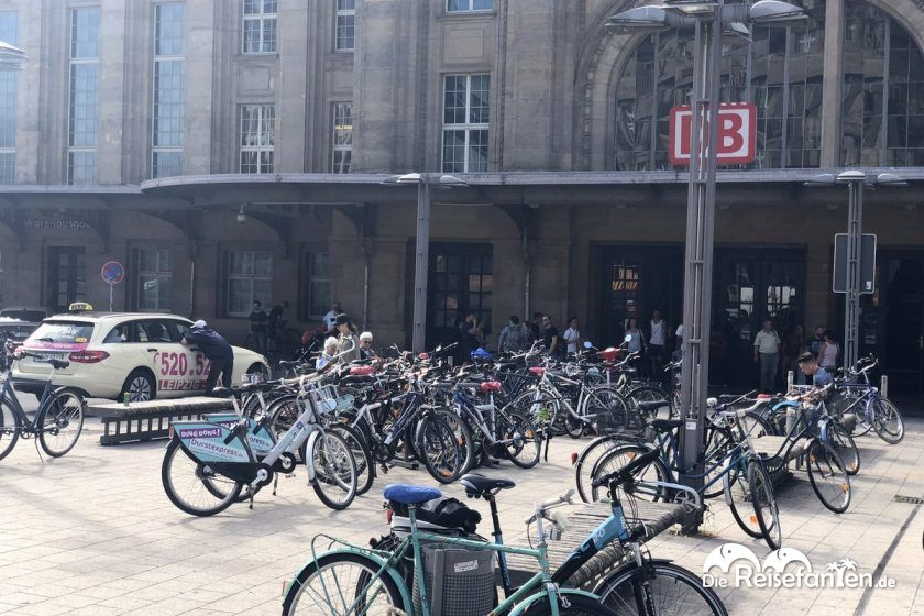 Nextbike Station am Leipziger Hauptbahnhof