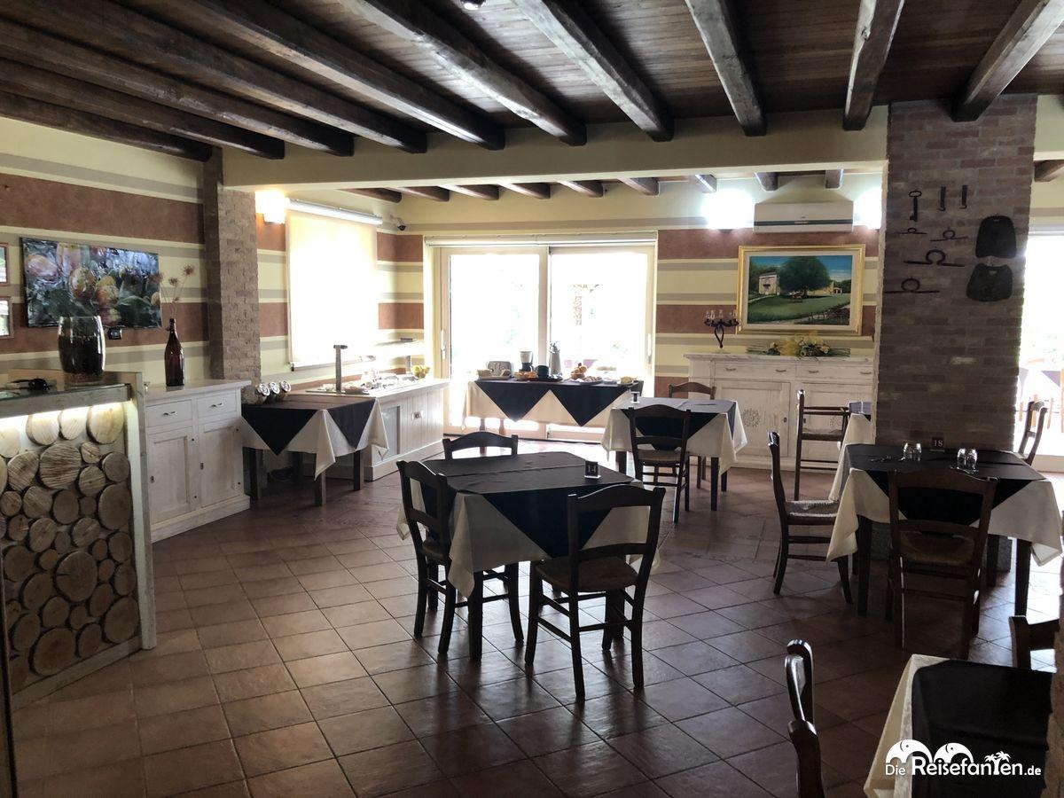 Restaurant im Agriturismo Creta Rossa