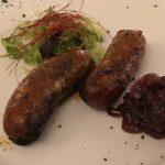 Würstchen im Agriturismo Creta Rossa
