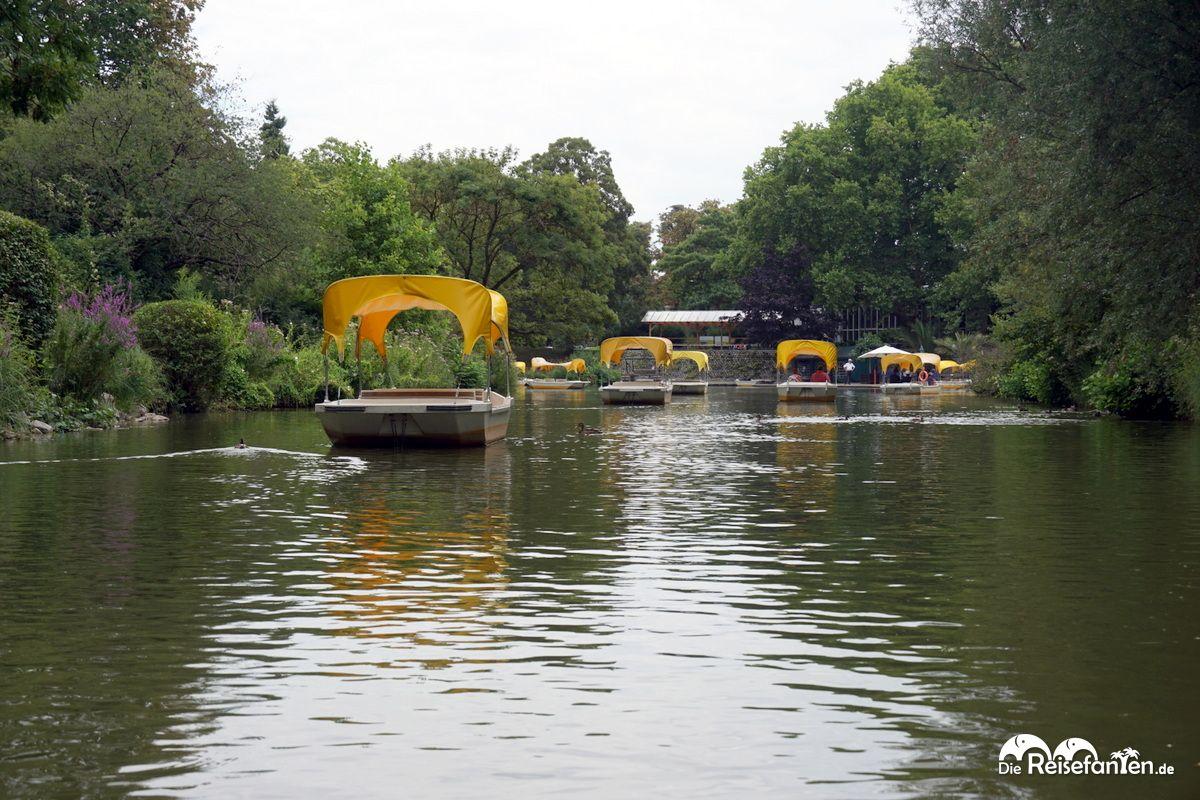 Boote der Gondoletta im Luisenpark Mannheim