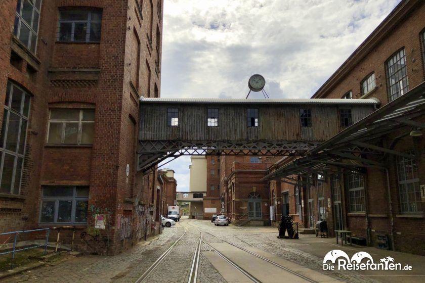 Das Gelände der alten Wollspinnerei in Leipzig