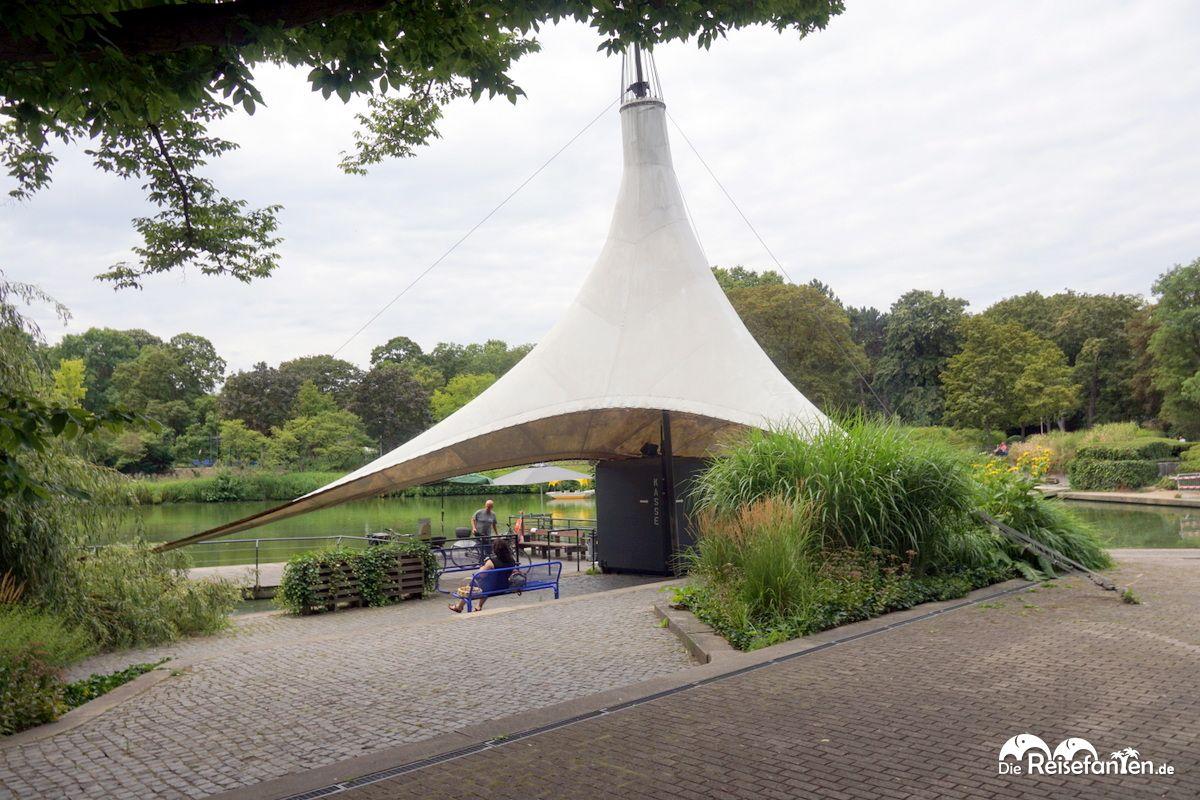 Der Einstiegsbereich zur Gondoletta im Luisenpark Mannheim