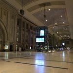 Der Leipziger Hauptbahnhof bei Nacht