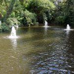 Drei kleine Brunnen im Herzogenriedpark in Mannheim