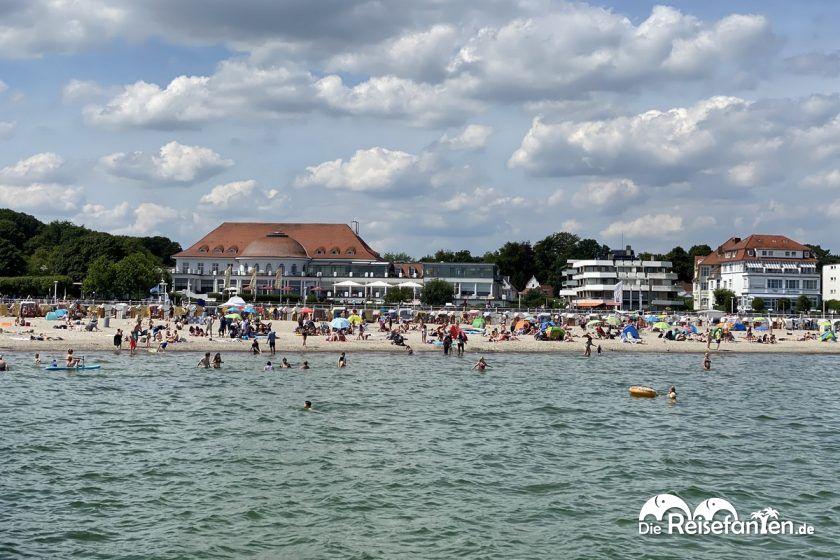 Blick auf den Strand von Travemünde