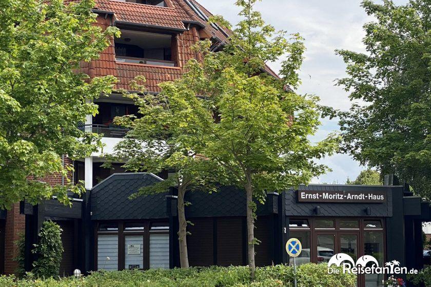 Eingang der Pematra Ferienwohnung in Travemünde