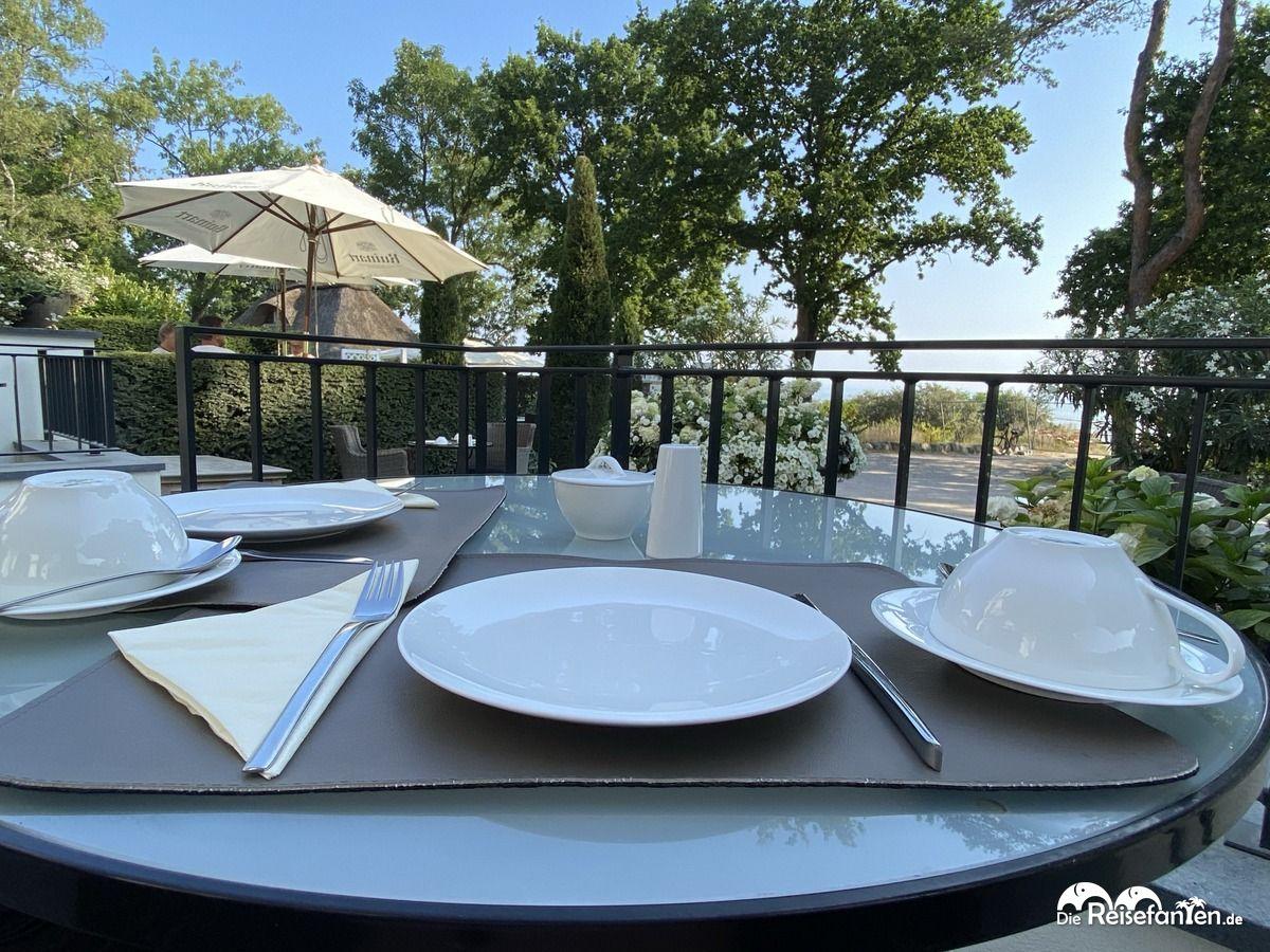 Frühstück mit Aussicht im Strandhotel Fontana in Timmendorfer Strand