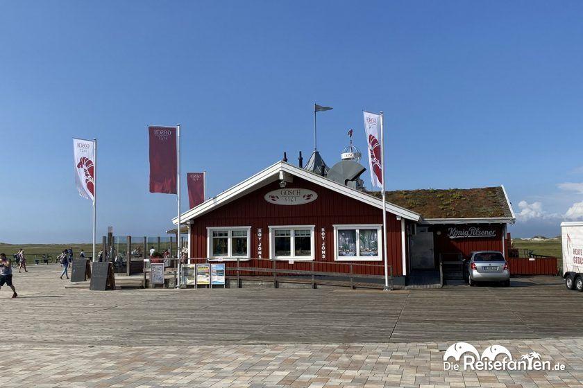 Blick auf das Restaurant Gosch in Sankt Peter Ording
