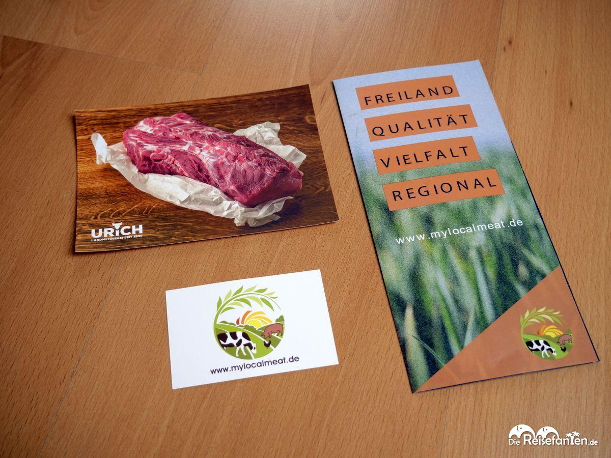 Werbeunterlagen von MyLocalMeat klären über die Herkunft und Produktion auf