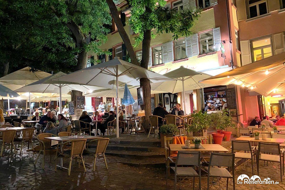 Außenbereich vom Restaurant Kugelofen in Weinheim