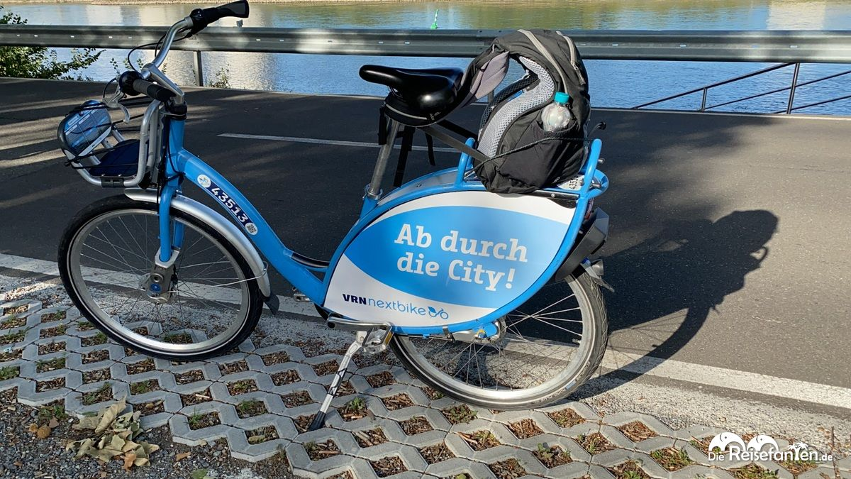 Beladenes Nextbike in Mannheim