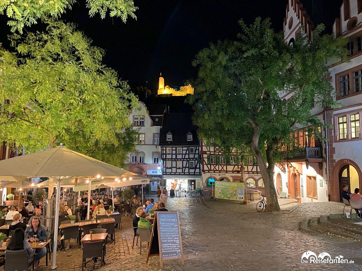 Restaurants am Marktplatz von Weinheim