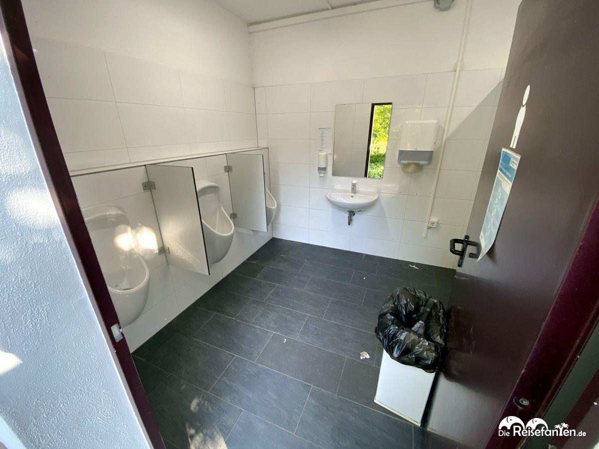 Toiletten im Chinesischen Teehaus im Luisenpark Mannheim