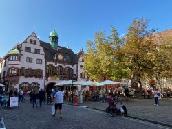 Am Rathausplatz in Freiburg