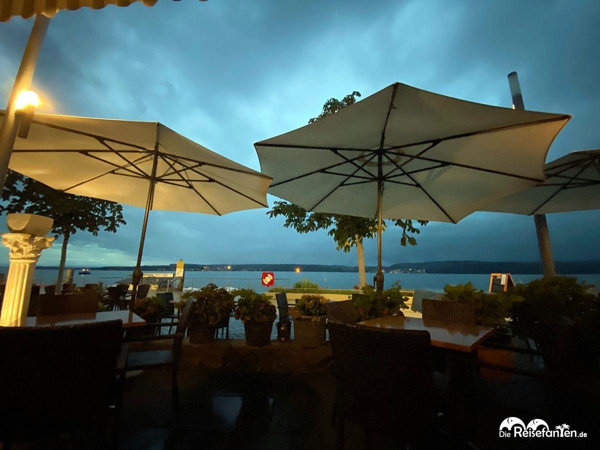 Bedrohliche Atmosphäre im Restaurant Mykonos in Überlingen