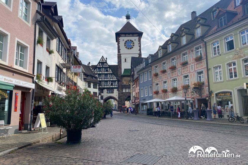 Blick auf das Schwabentor in Freiburg
