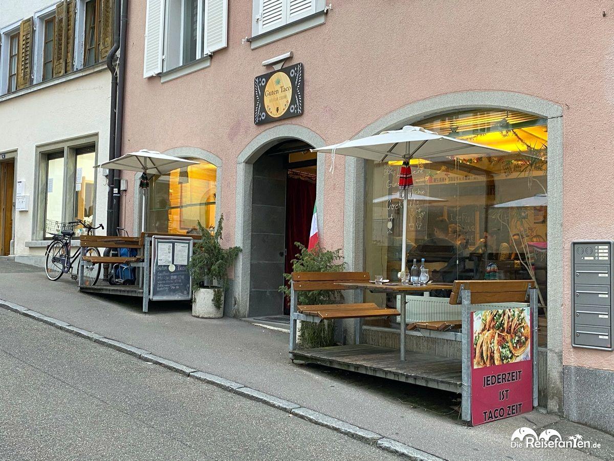 Das Restaurant Guten Taco in Überlingen bei Tag