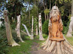 Eine kunstvolle Holzwerke in Überlingen