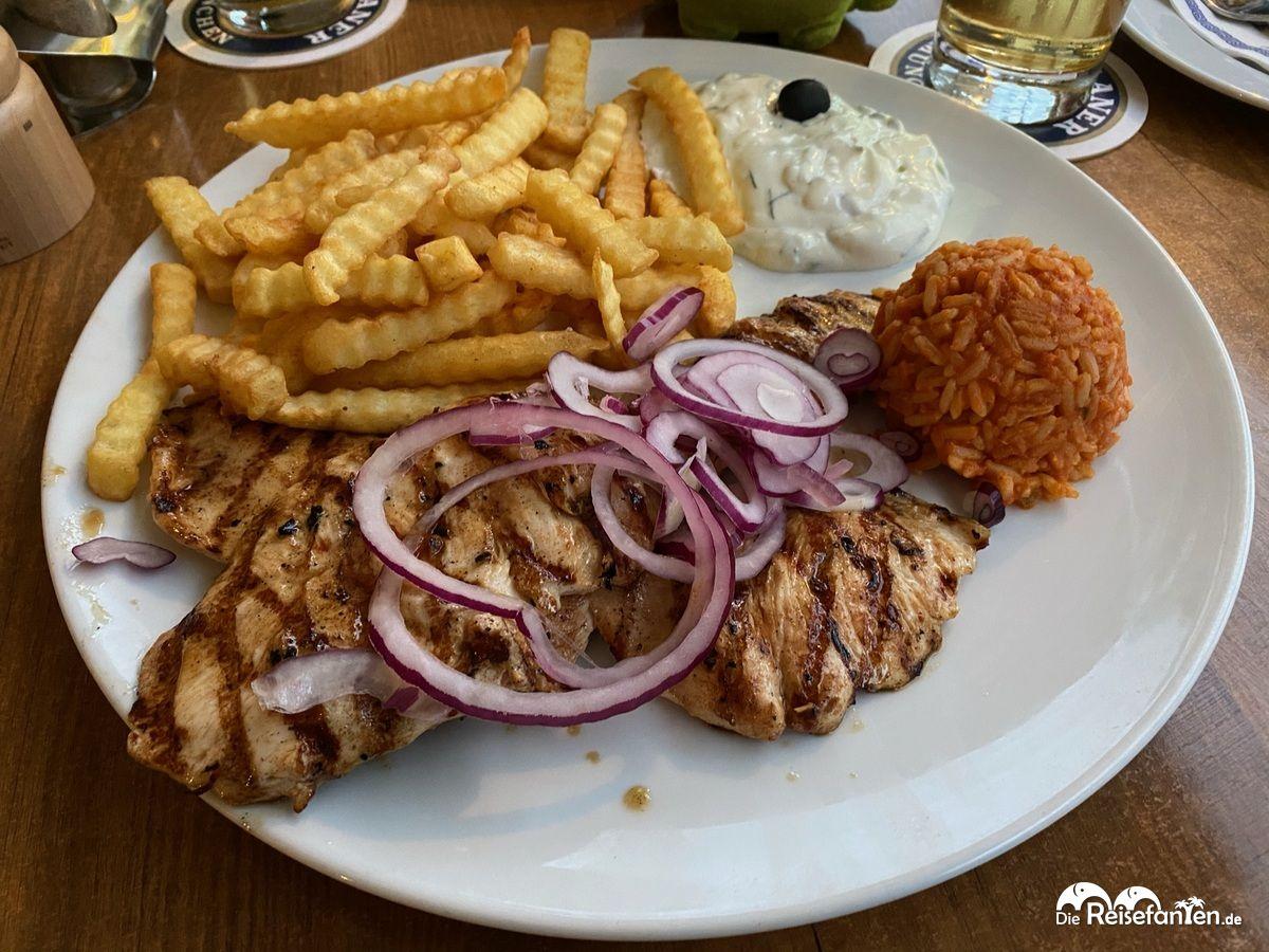 Essen im Restaurant Mykonos in Überlingen