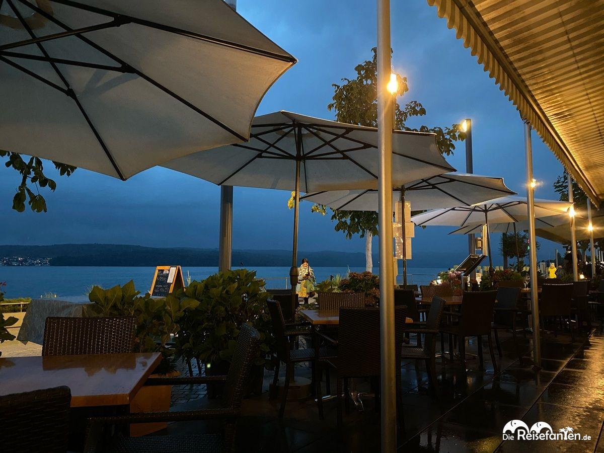 Gewitter im Restaurant Mykonos in Überlingen