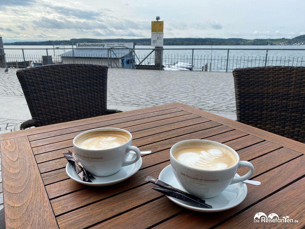 Kaffee an der Promenade von Überlingen