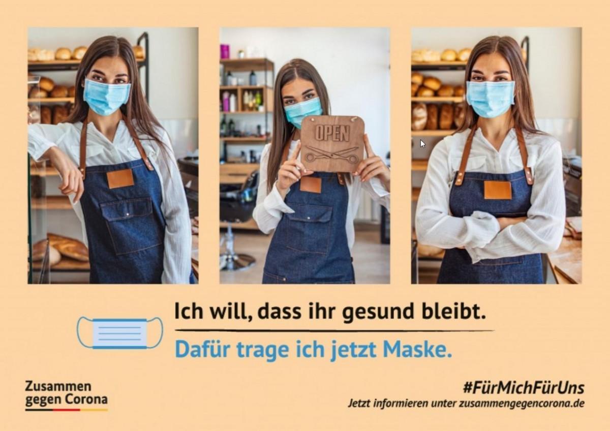 Die Vorlagen der #FürMichFürUns Kampagne lassen sich mit eigenen Bildern füllen