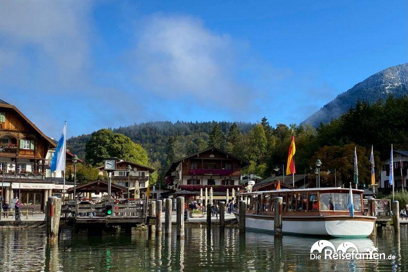Blick auf den Anleger in Schönau am Königssee