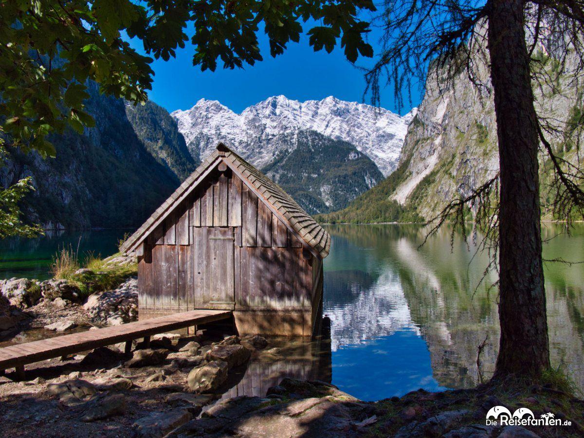 Bootshaus an der Fischunkelalm am Obersee