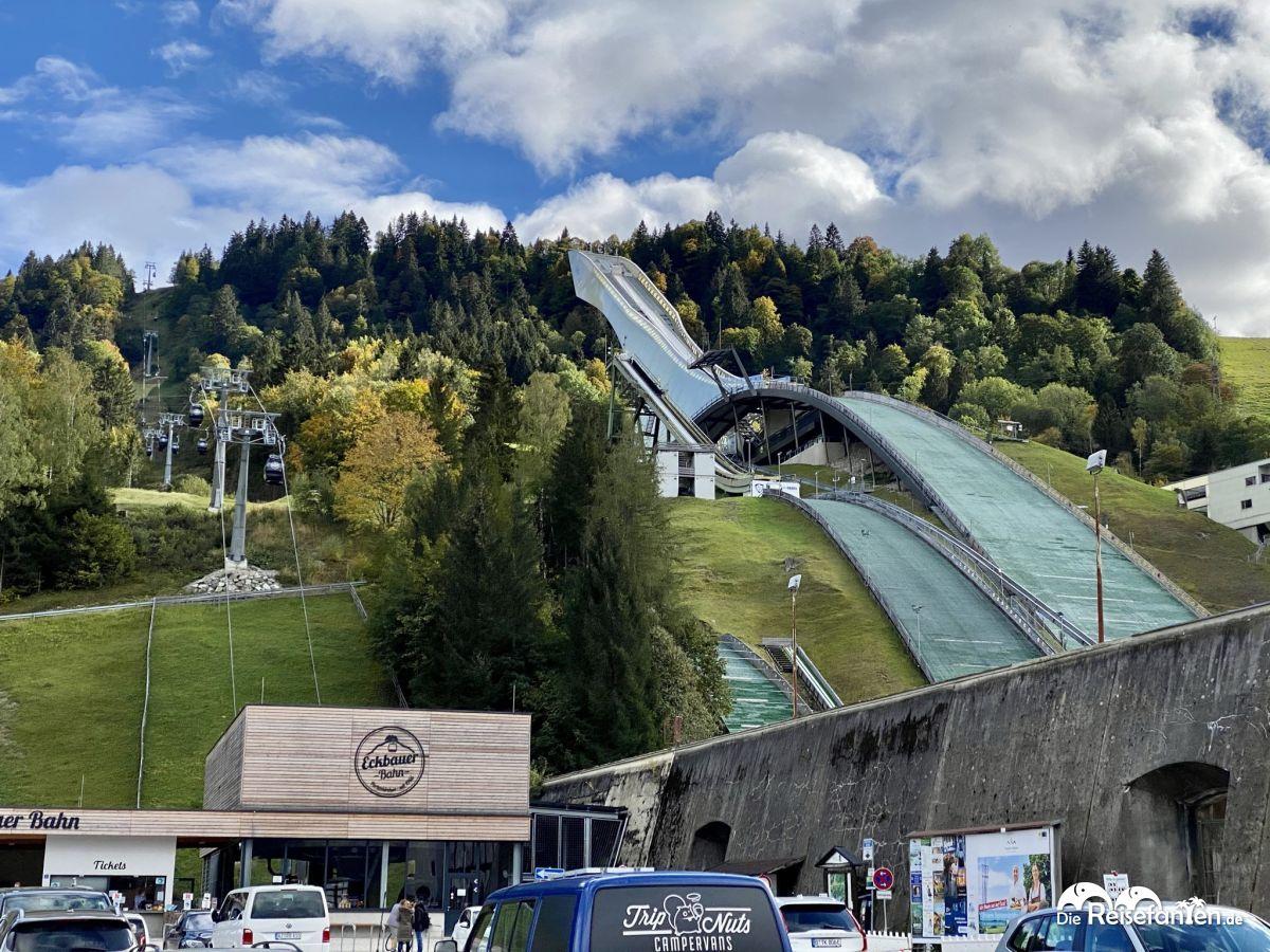 Das Olympiastadion von Garmisch Partenkirchen
