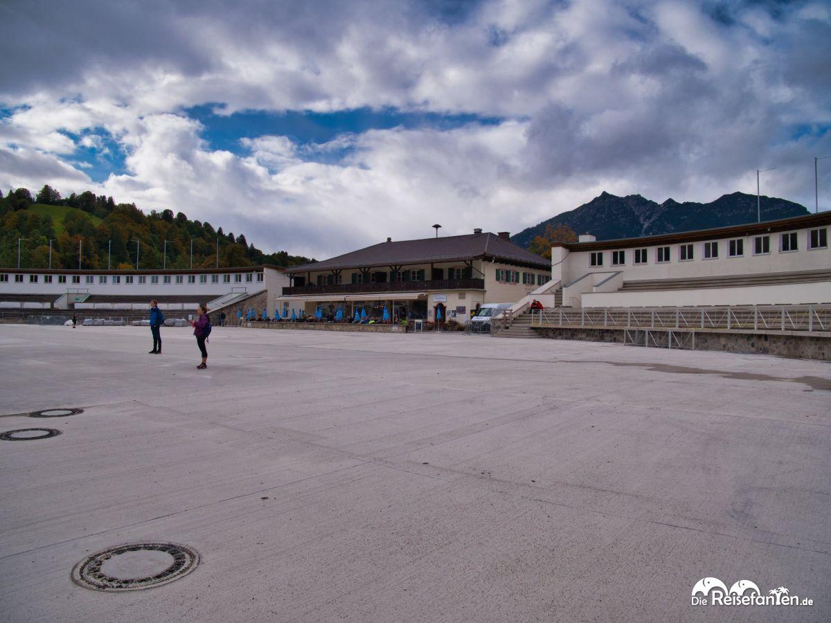 Die Auslauffläche unterhalb der Skisprungschanze von Garmisch Partenkirchen