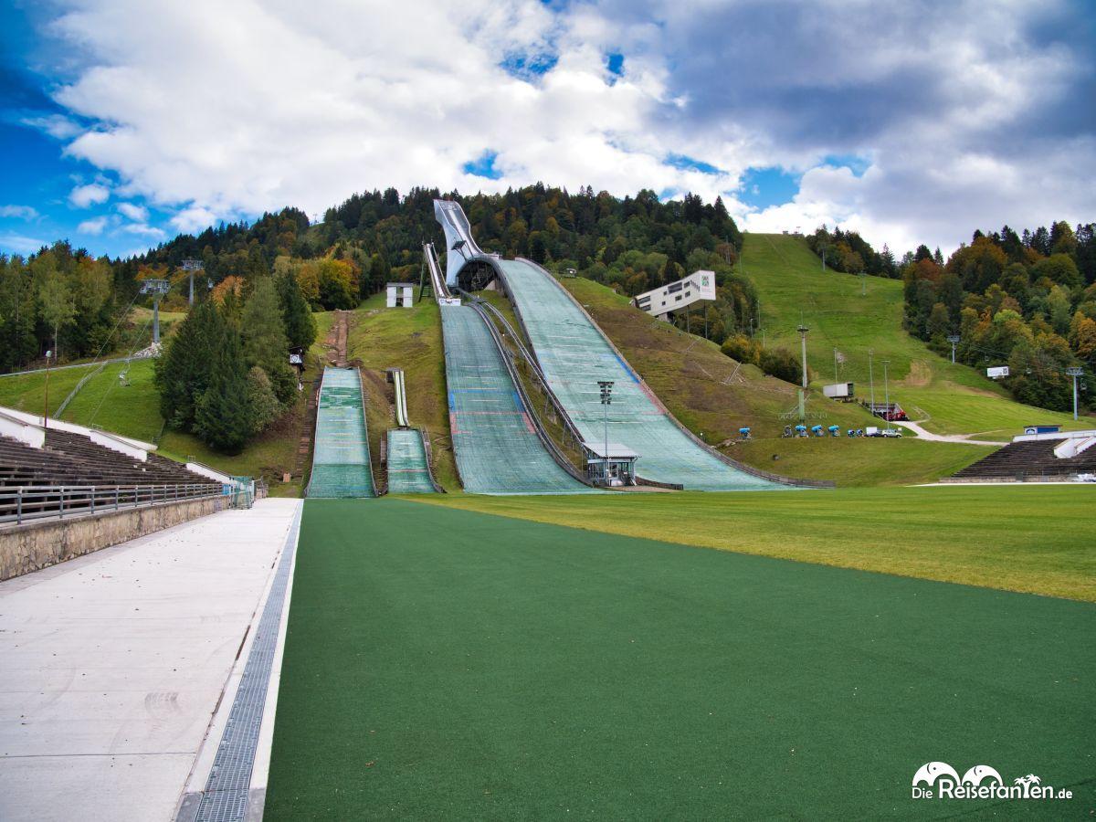 Die Skisprungschanzen von Garmisch Partenkirchen